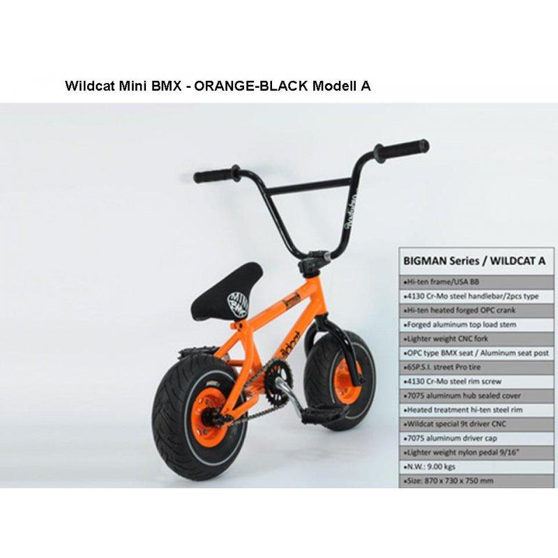 mini bmx bike wildcat bigman a orange black 2 teiliger. Black Bedroom Furniture Sets. Home Design Ideas