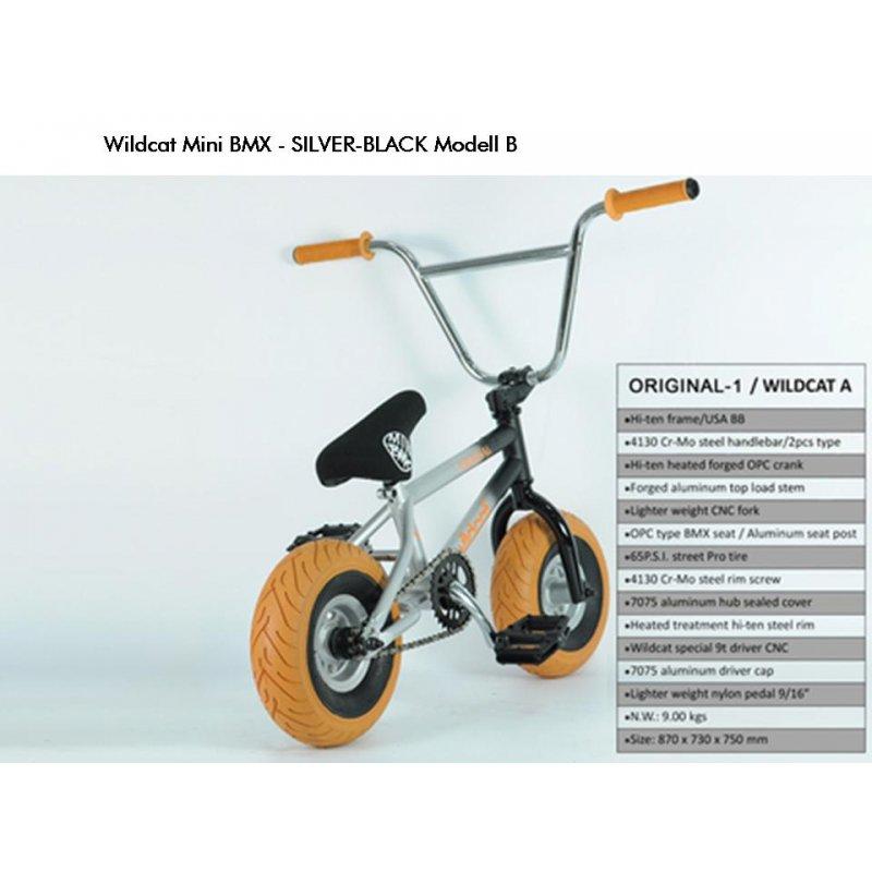 mini bmx bike wildcat original a silver black 2. Black Bedroom Furniture Sets. Home Design Ideas
