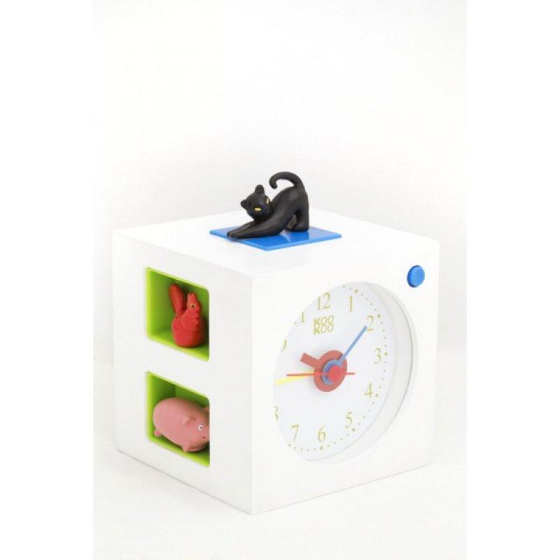 neu kookoo kidsalarm weiss wecker mit echten tierstimmen 85 00 chf. Black Bedroom Furniture Sets. Home Design Ideas
