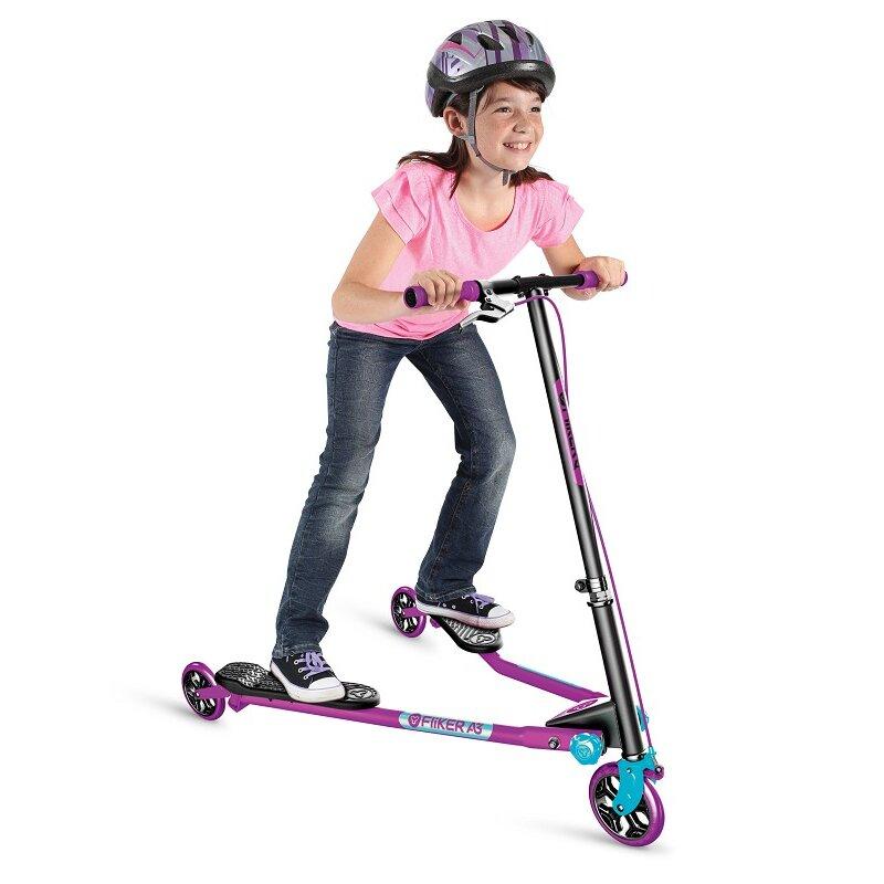 Y Fliker Scooter >> Y Fliker A3 Air Purple Blue 3 Wheels Swing Scooter New Order